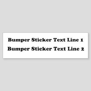 Customize This Sticker (Bumper)
