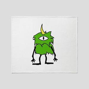 One Eyed Monster Throw Blanket
