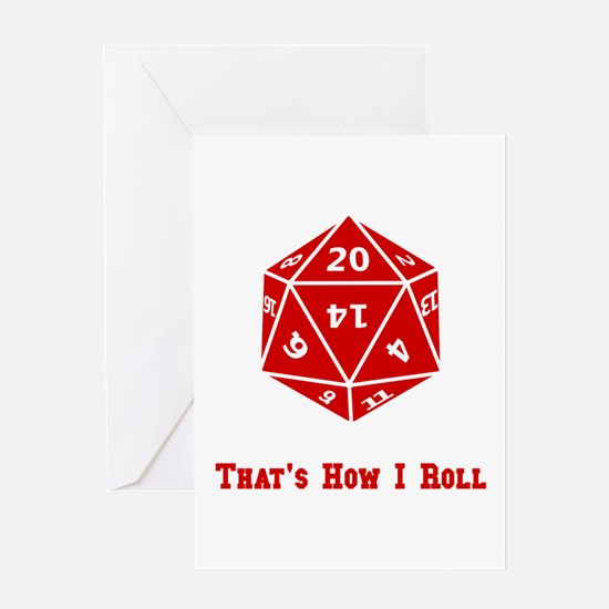20 Sided Roll Greeting Card