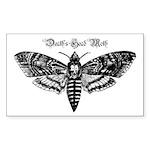 Death's Head Moth Sticker (Rectangle 50 pk)