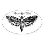 Death's Head Moth Sticker (Oval 10 pk)