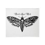 Death's Head Moth Throw Blanket