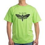Death's Head Moth Green T-Shirt