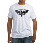 Death's Head Moth Fitted T-Shirt