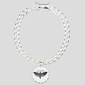 Death's Head Moth Charm Bracelet, One Charm