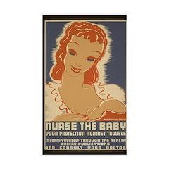Nurse the Baby Sticker (Rectangle)