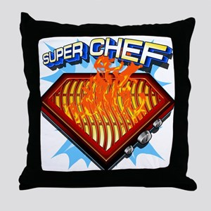 Super Chef Power! Throw Pillow