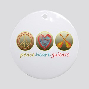 PEACE HEART GUITARS Ornament (Round)