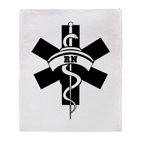 RN Nurses Medical Throw Blanket