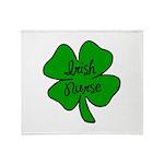 Irish Nurse Throw Blanket