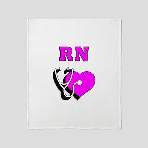RN Nurses Care Throw Blanket