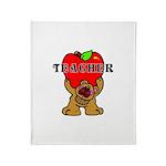 Teachers Apple Bear Throw Blanket