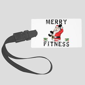 Merry Fitness Santa Large Luggage Tag