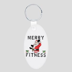 Merry Fitness Santa Keychains