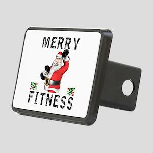 Merry Fitness Santa Rectangular Hitch Cover