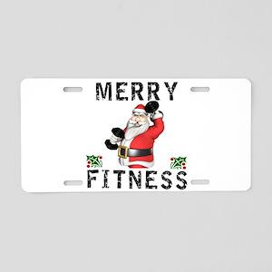 Merry Fitness Santa Aluminum License Plate