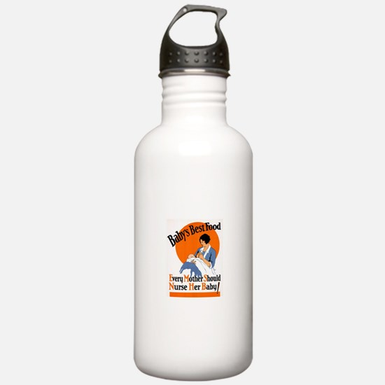 Baby's Best Food (AMA Poster) Water Bottle