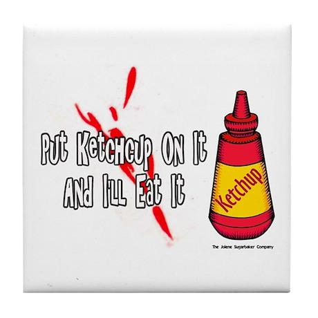 Ketchup Lover Tile Coaster