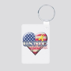 USMC Girlfriend - Aluminum Photo Keychain