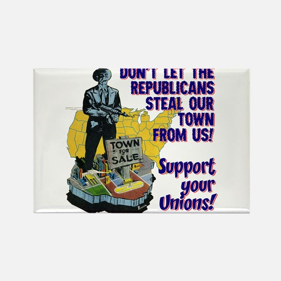 $4.99 Support Your Unions! Rectangle Magnet