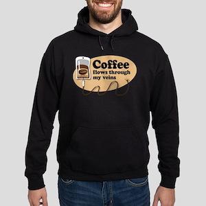 Coffee in my veins Hoodie (dark)