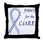 Blue Paws Cure Throw Pillow