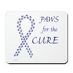 Blue Paws Cure Mousepad