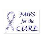 Blue Paws Cure Mini Poster Print