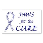 Blue Paws Cure Rectangle Sticker