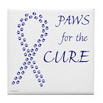 Blue Paws Cure Tile Coaster