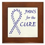 Blue Paws Cure Framed Tile