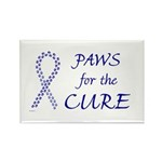 Blue Paws Cure Rectangle Magnet (100 pack)