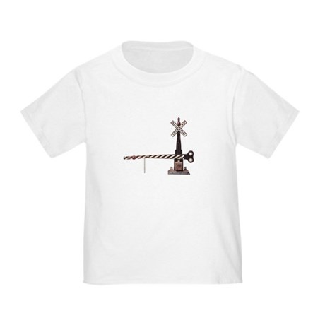 CafePress Railroad Crossing Gate Toddler T Shirt Toddler T-Shirt 53964560