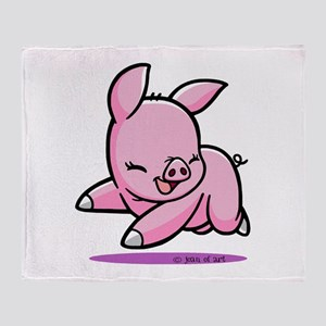 My Piggy (3) Throw Blanket