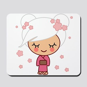 cherry blossom girl Mousepad