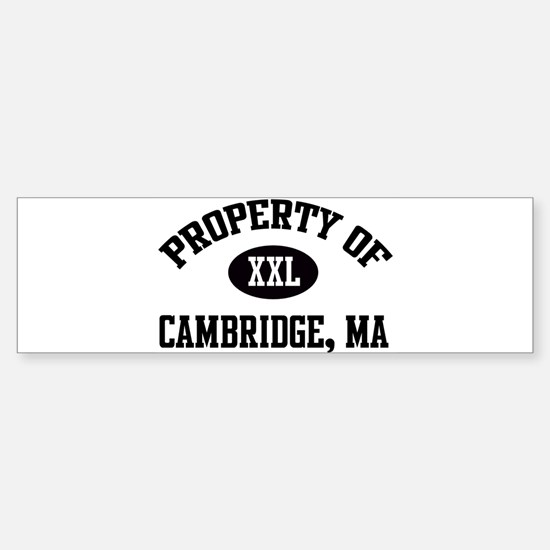 Property of Cambridge Bumper Bumper Bumper Sticker