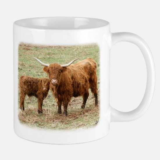 Highland Cow and calf 9Y316D-045 Mug