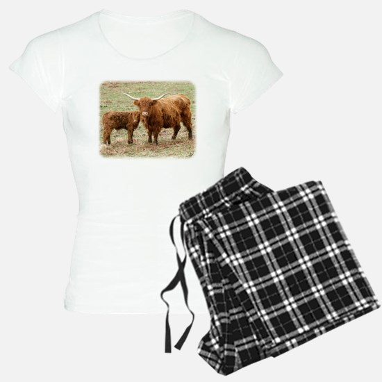 Highland Cow and calf 9Y316D-045 Pajamas