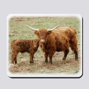 Highland Cow and calf 9Y316D-045 Mousepad