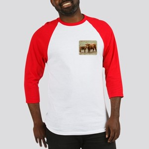 Highland Cow and calf 9Y316D-045 Baseball Jersey