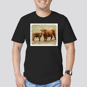 Highland Cow and calf 9Y316D-045 Men's Fitted T-Sh