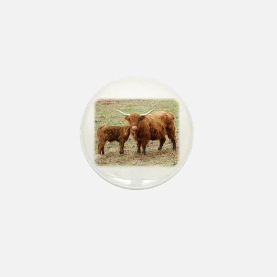 Highland Cow and calf 9Y316D-045 Mini Button
