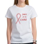 Red Paws 4 Cure Women's T-Shirt