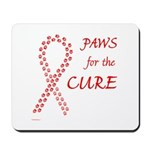 Red Paws 4 Cure Mousepad
