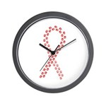 Red Paws 4 Cure Wall Clock