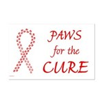 Red Paws 4 Cure Mini Poster Print
