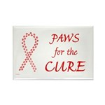 Red Paws 4 Cure Rectangle Magnet (100 pack)