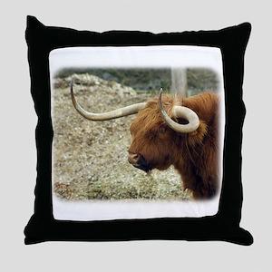 Highland Cow 9R007D-009 Throw Pillow