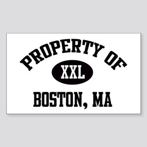 Property of Boston Rectangle Sticker