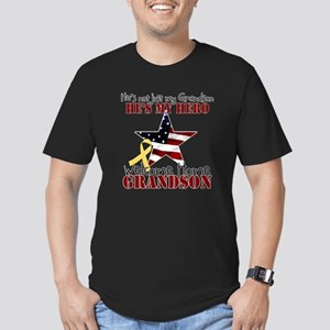 He's not just my Grandson, He Men's Fitted T-Shirt